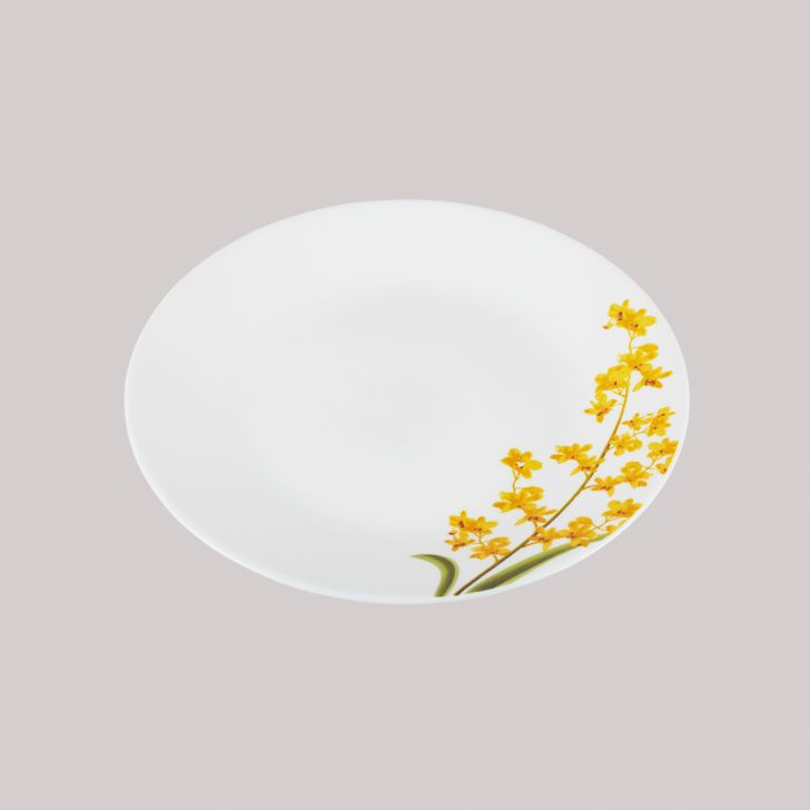 Diva Ivory Quarter Plate Grace Glass Plates in White Colour by Diva