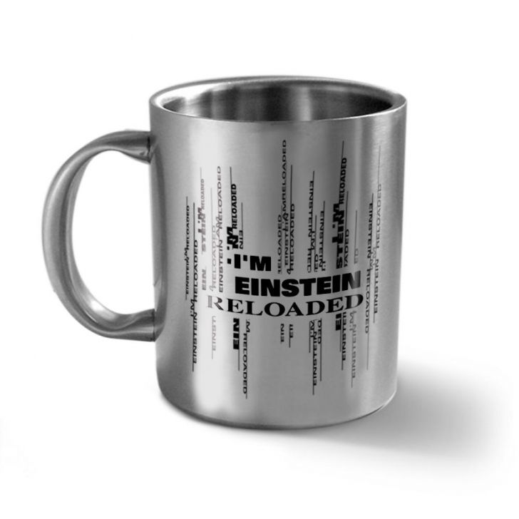 Hot Muggs I'm Einstein Stainless Double Walled Mug Stainless steel Coffee Mugs in Silver Colour by HotMuggs