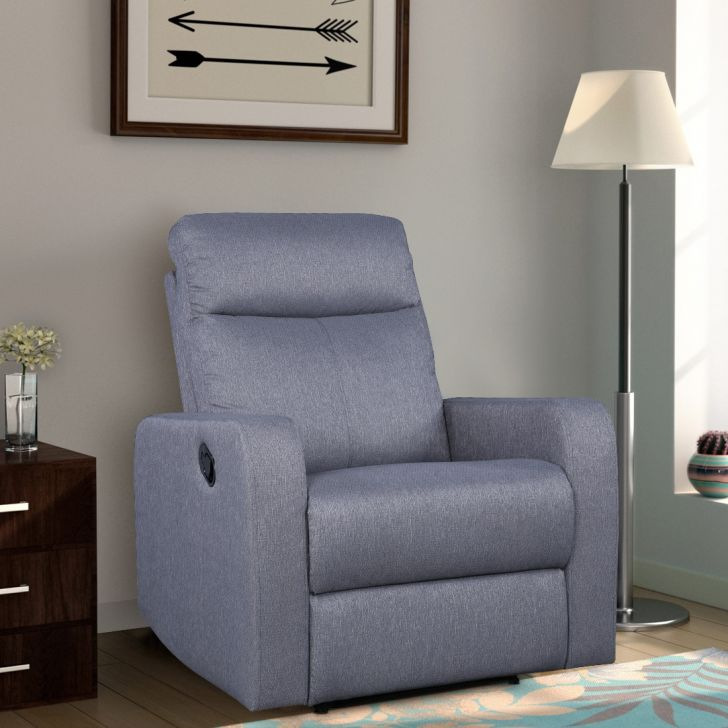 Champion Fabric Recliner in Grey Colour