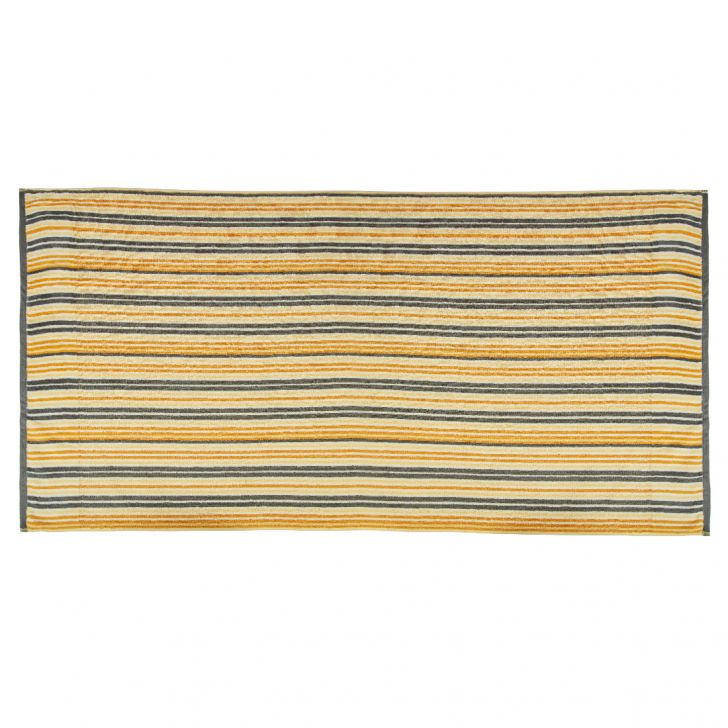 Bath Towel Nora Stripe Neutral Cotton Bath Towels in Multicolour Colour by Living Essence