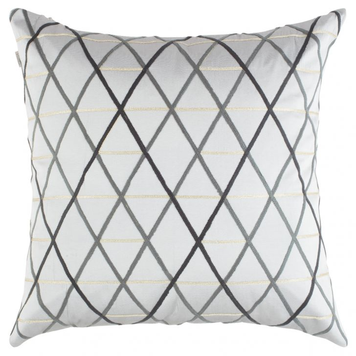 Modern Small Chevron Polyester Cushion Covers in Silver Colour by Living Essence