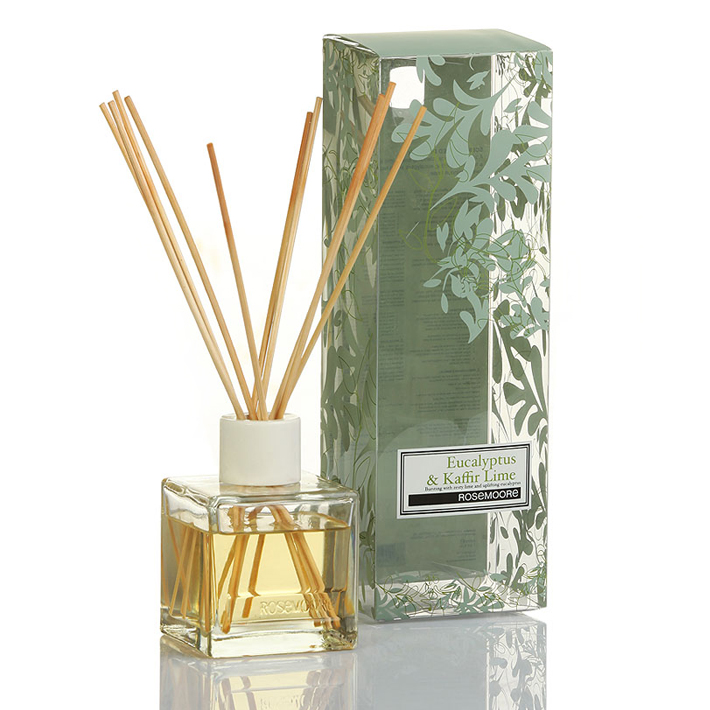 Rosemoore Scented Reed Diffuser Eucalyptus & Kaffir Lime Eucalyptus & Kaffir Lime Home Fragrances in Green Colour by Rosemoore