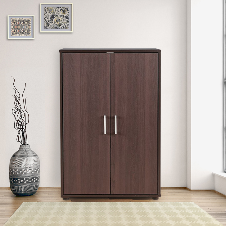 Henley Engineered Wood Storage Cabinet in Beech Chocolate Colour by HomeTown