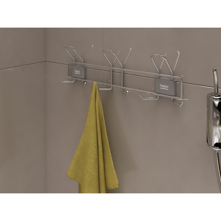 Dura Cucine Stainless steel Clothes Hook in Chrome Colour by Hettich
