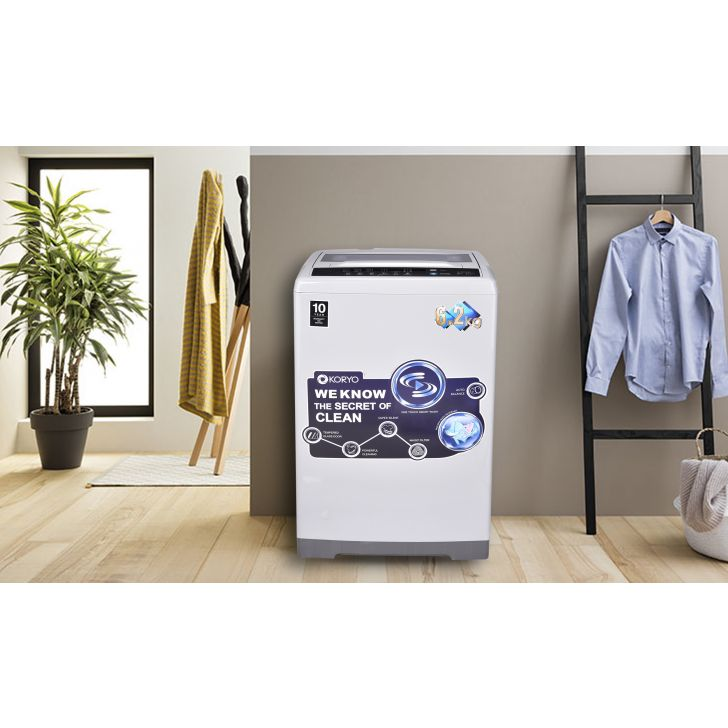 Koryo Top Load Fully Automatic Washing Machine in Silver Colour by Koryo