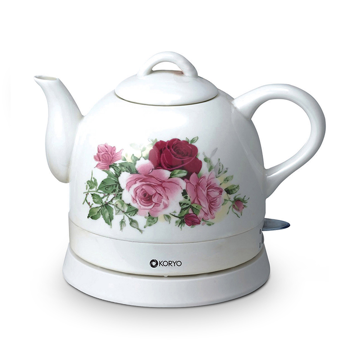 Ceramic Electric Kettle - 1 Litre by Koryo