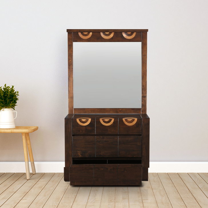 Enrique Solid Wood Dressing Table in Wenge Colour by HomeTown
