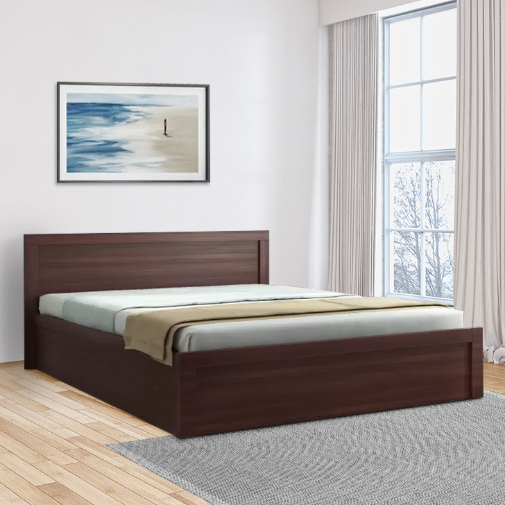 Dazzle Engineered Wood Box Storage Queen Size Bed in Walnut Color by HomeTown