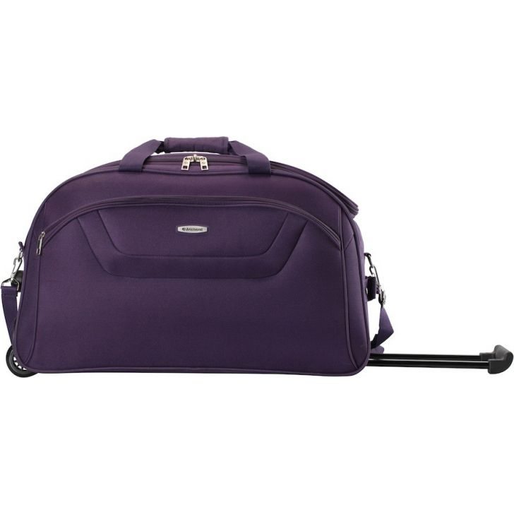 Cactus V 67 cm Polyester Duffle on Wheel in Purple Colour by Aristocrat