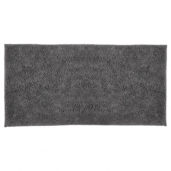 Bath Runner Nora Chenille Grey Chenille Bath Mats in Grey Colour by Living Essence