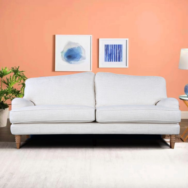 Lynden Fabric L2ST Seater Sofa in Off White Colour