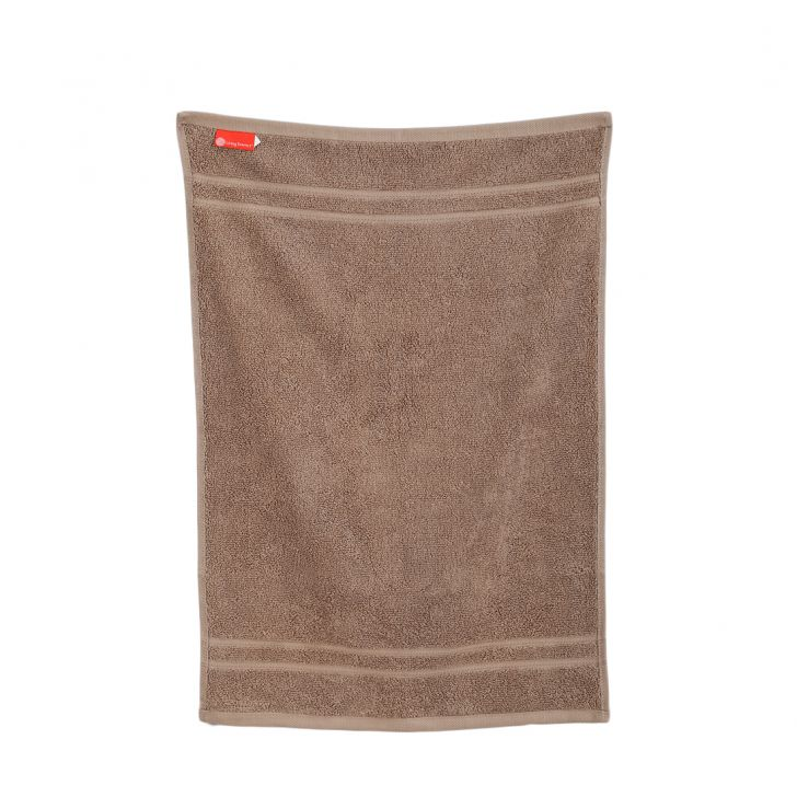 Hand Towel 40X60 Nora Mocha Combed Cotton Hand Towels in Mocha Colour by Living Essence