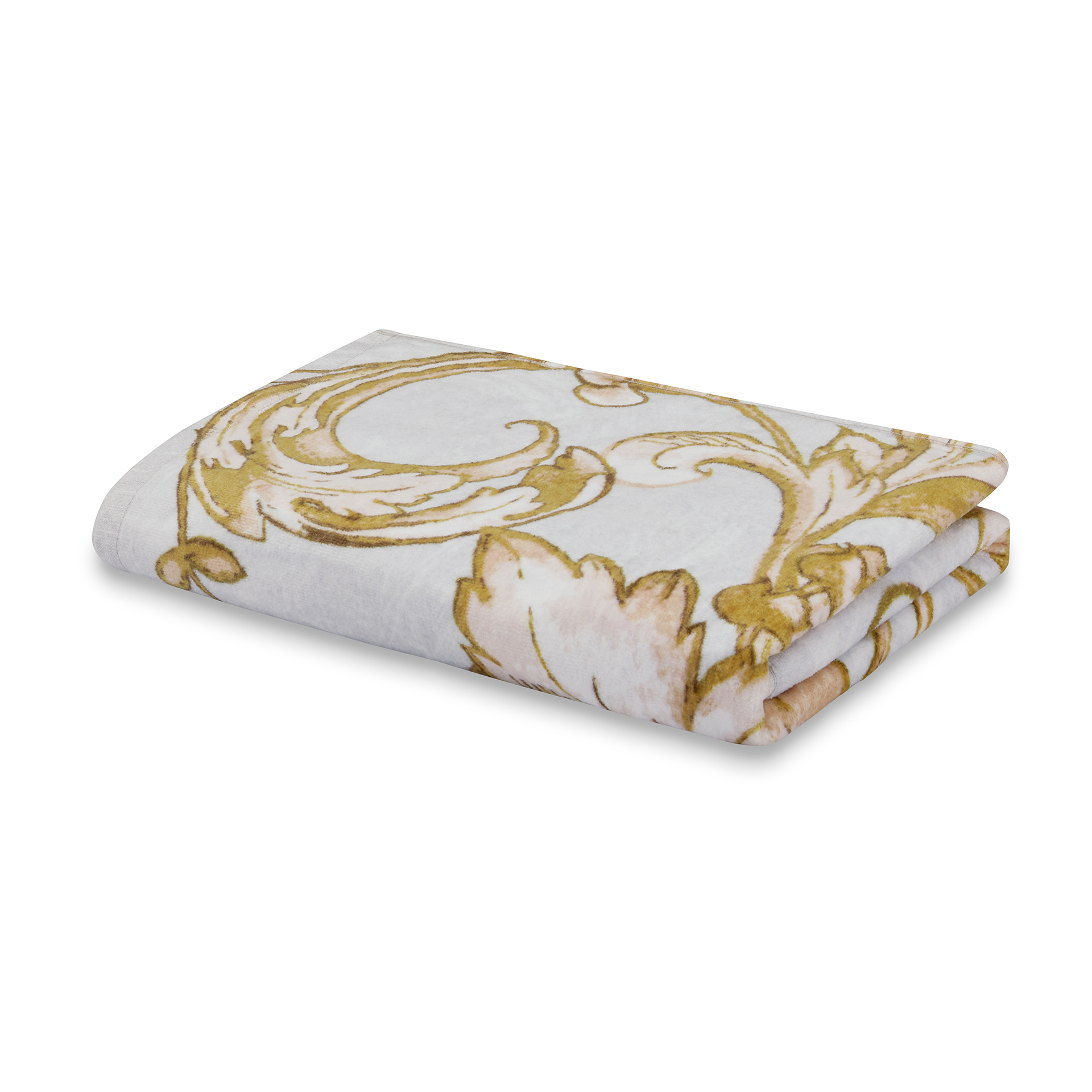 Spaces Atrium Cotton Double Bed Sheets in Gold Colour by Spaces