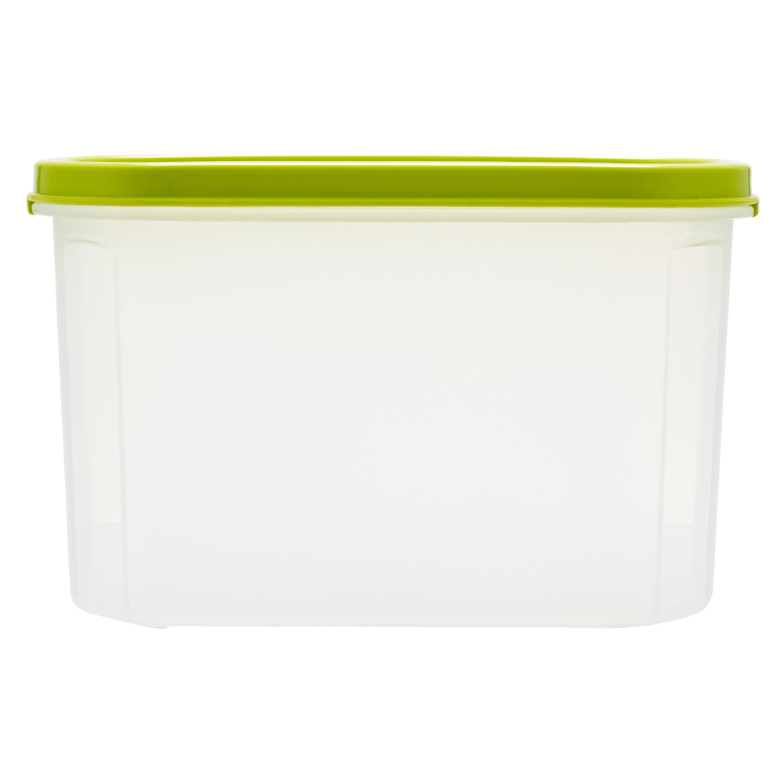 Kitchen Modular Oval 1200 Ml Green Plastic Containers in Green Colour by Living Essence