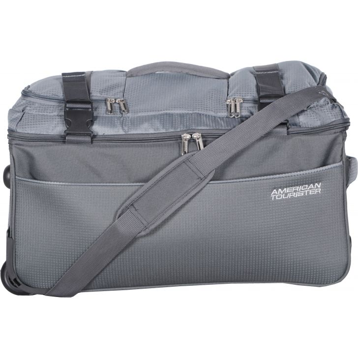 Turin Duffle Bag 55 cm Polyester Duffle Bag in Grey Colour by AMERICAN TOURISTER
