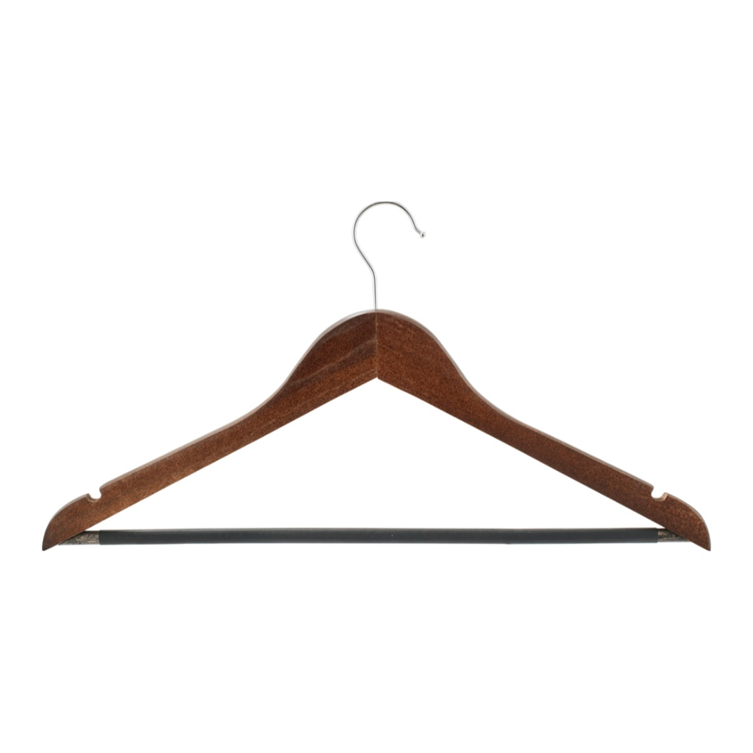 Wooden Hanger Set Of 5 Wood Hangers & Hooks in Beige Colour by Living Essence