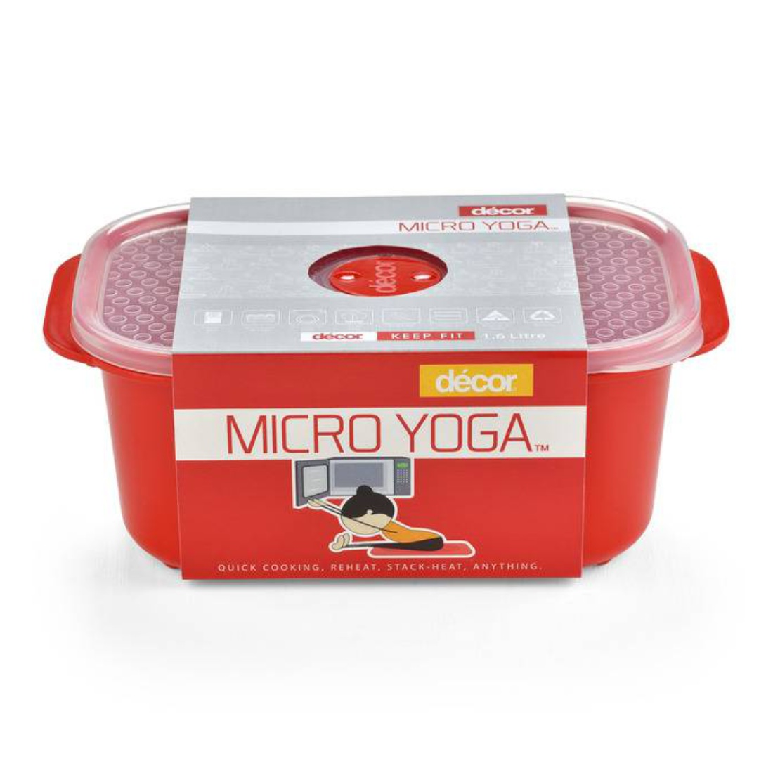 Micro Yoga Oblong 1.6L Plastic Containers by Decor