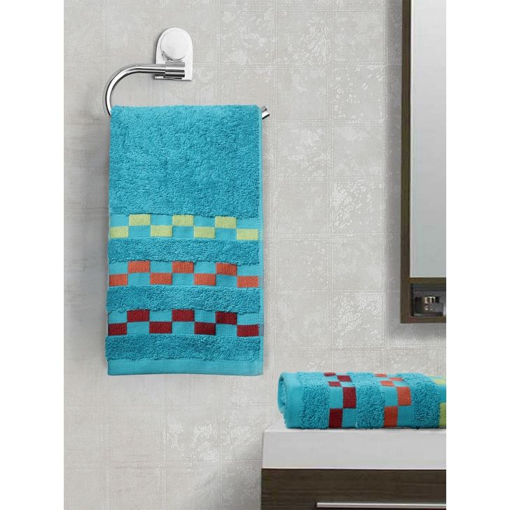 Sonoma Cotton Set Of 2 Hand Towel 40X60 Cm 450 Gsm in Teal Colour