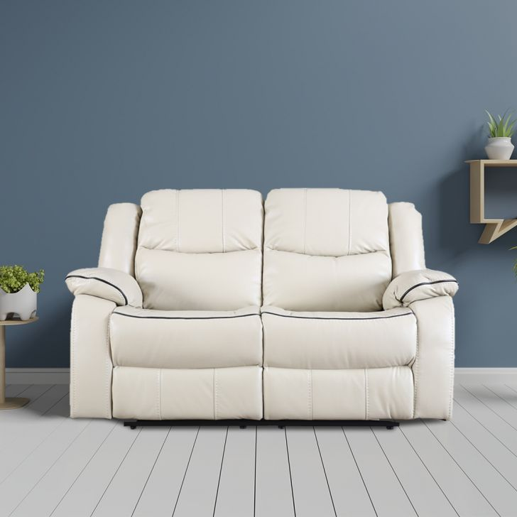 Hugo Fabric Two Seater Recliner in Beige Colour by HomeTown