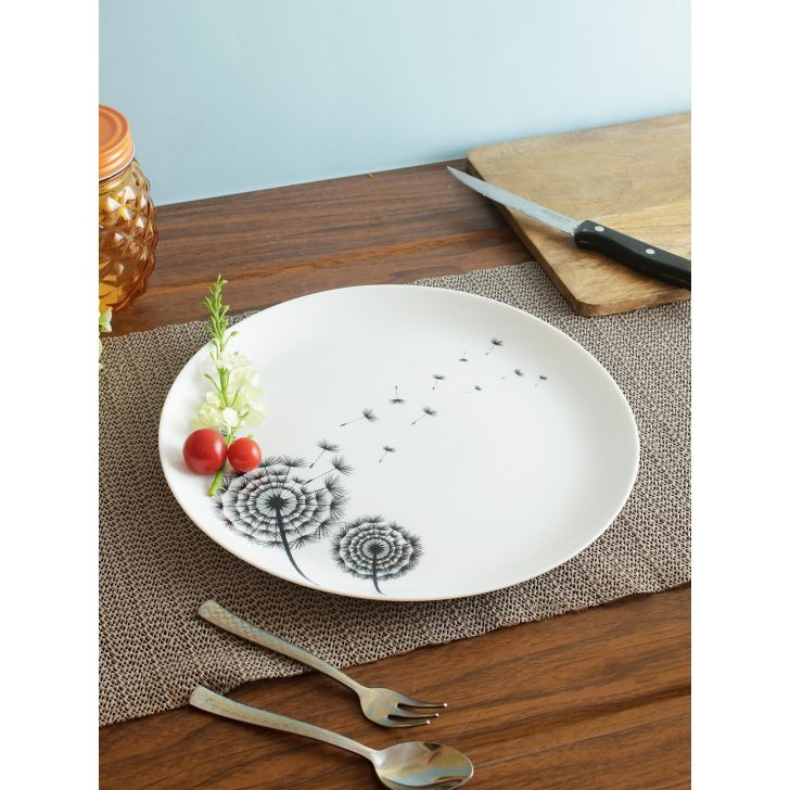 Opalware Plate in Multi Colour by Living Essence
