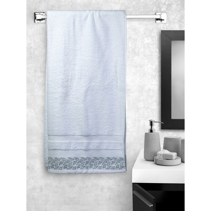 Portico New York Ariana Jacquard : B Bath Towel in Off White Color by Portico