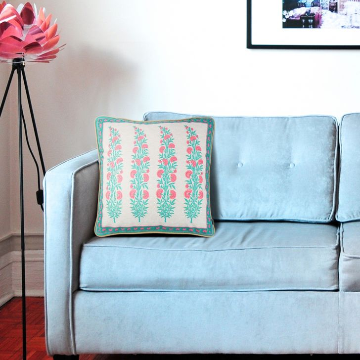 Palace Life Velvet Cushion Covers in Blue Colour by Living Essence