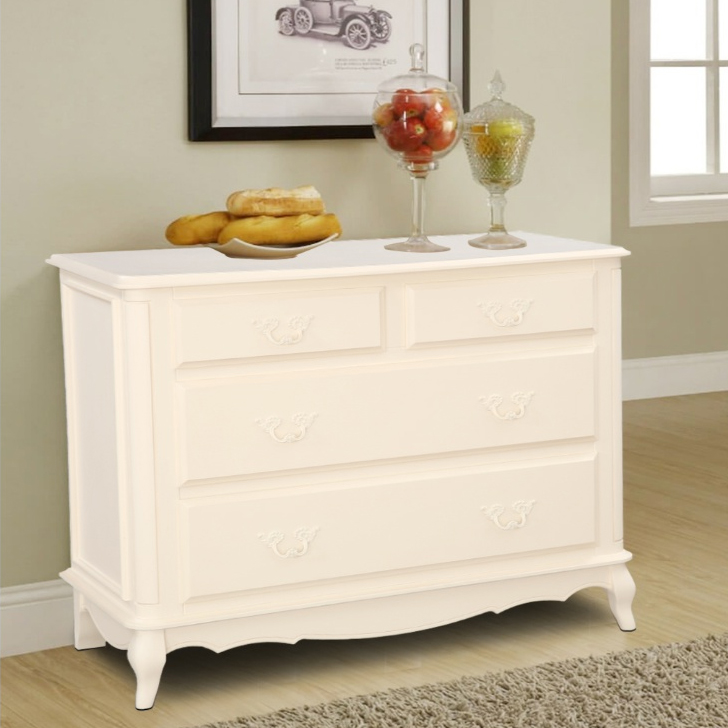 Provencale Solid Wood Chest of Drawers in Ivory Colour by HomeTown