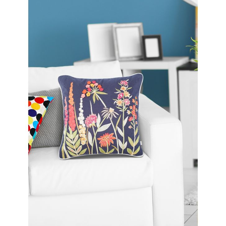 Tropical Safari Oasis Ceramic Cushion Covers in Blue Colour by Living Essence