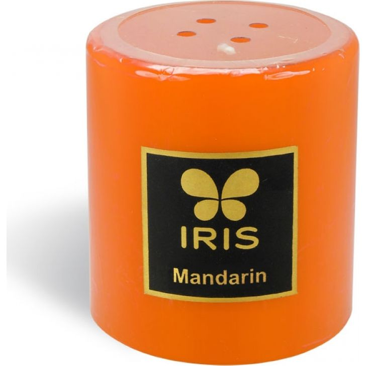 IRIS Smooth Finish Pillar Candle Mandarin