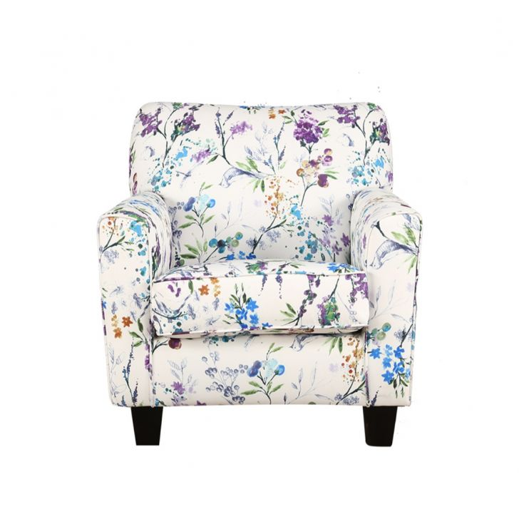 Nicholas Fabric Arm Chair in Turquoise Colour by HomeTown
