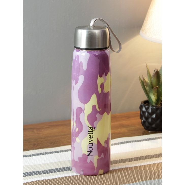 Borosilicate Glass Bottle 320 Ml With Silicon Grip by Nouvetta