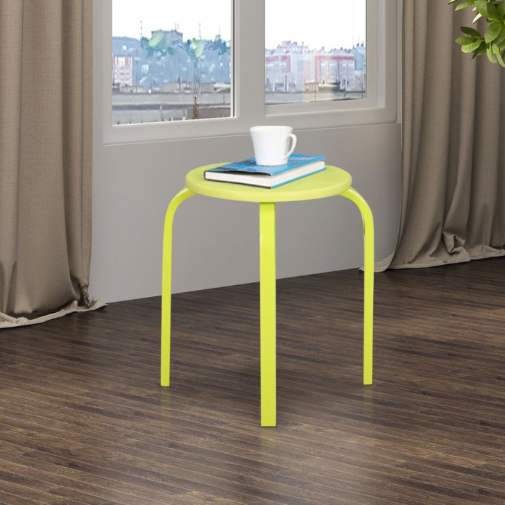 Dane Engineered Wood Stool in Green Colour by HomeTown