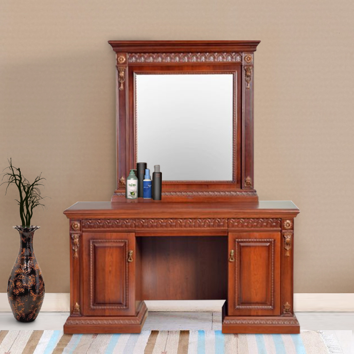 Morrison Engineered Wood Dressing Table in White Colour by HomeTown