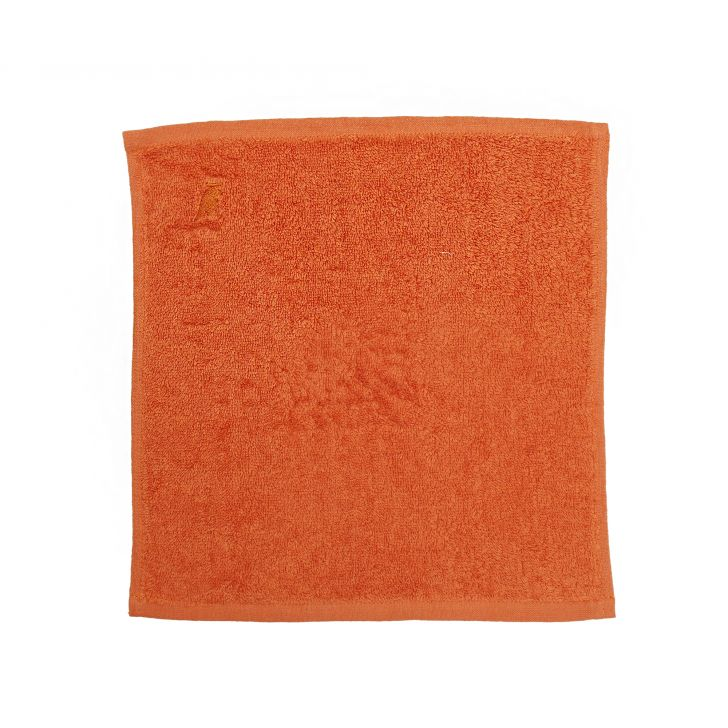 Maspar 550 GSM Embedded Stripe Cotton Orange Face Towel