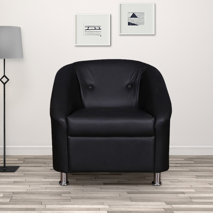 Belfast Miranty Wood Single Seater sofa in Black Colour by HomeTown