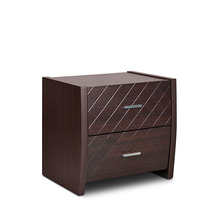 Ontario Engineered Wood Bedside Table in Walnut Colour by HomeTown