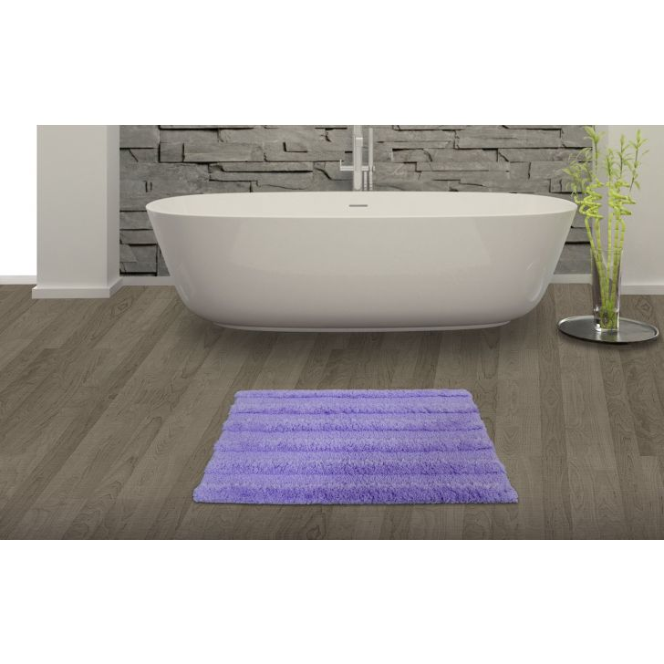 Spaces Swift Dry Lavender Cotton Bath Mat - Small
