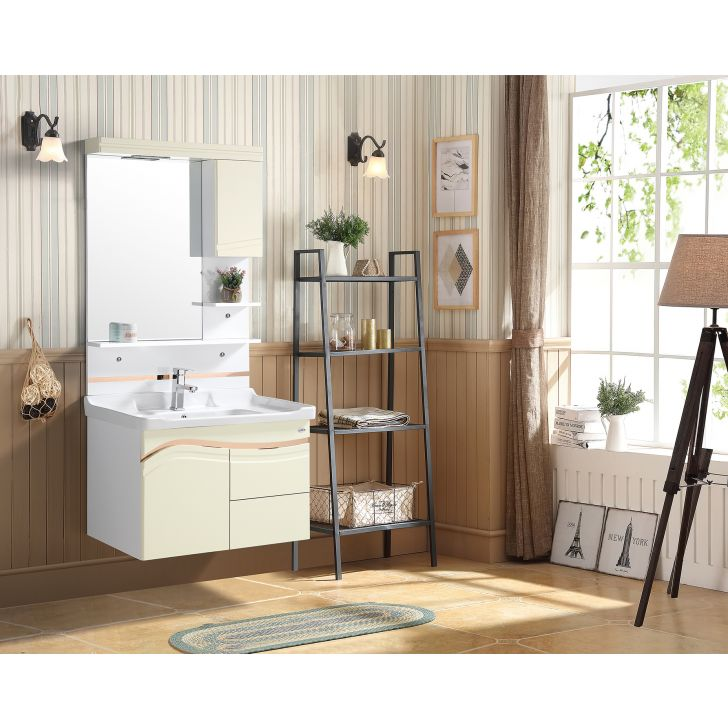 Glam Bath Vanity in White & Beige Colour by HomeTown