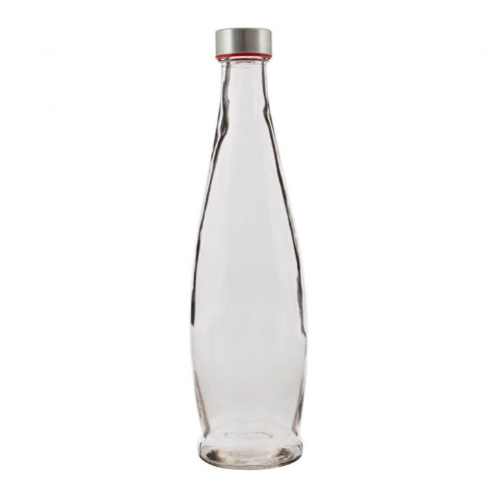 Clear Bottle 1000 ml Glass Glass Bottles in Transparent Colour by Living Essence