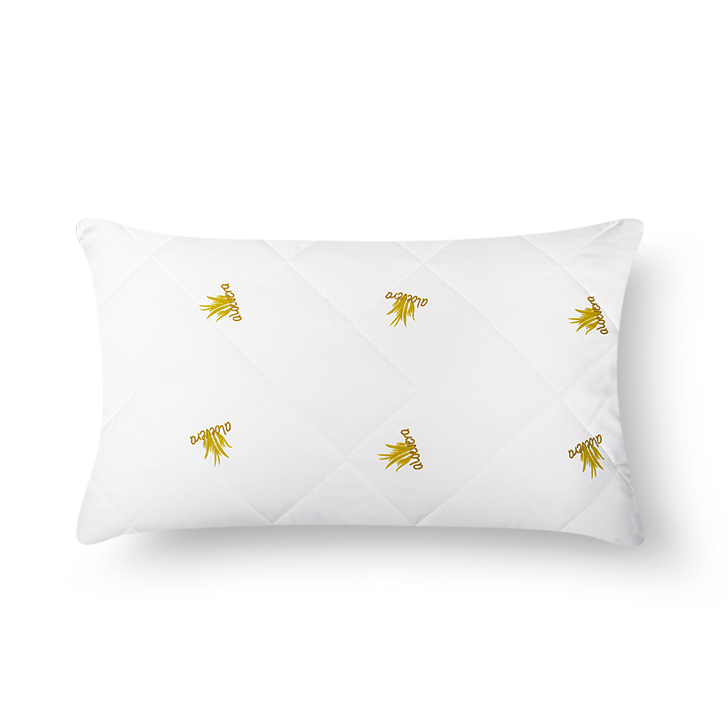 Featherlite Aloe Vera Pillow Polyester Fibre Pillows in White Colour by Living Essence