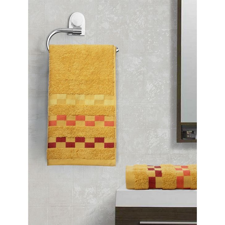 Sonoma Cotton Set Of 2 Hand Towel 40X60 Cm 450 Gsm in Gold Colour