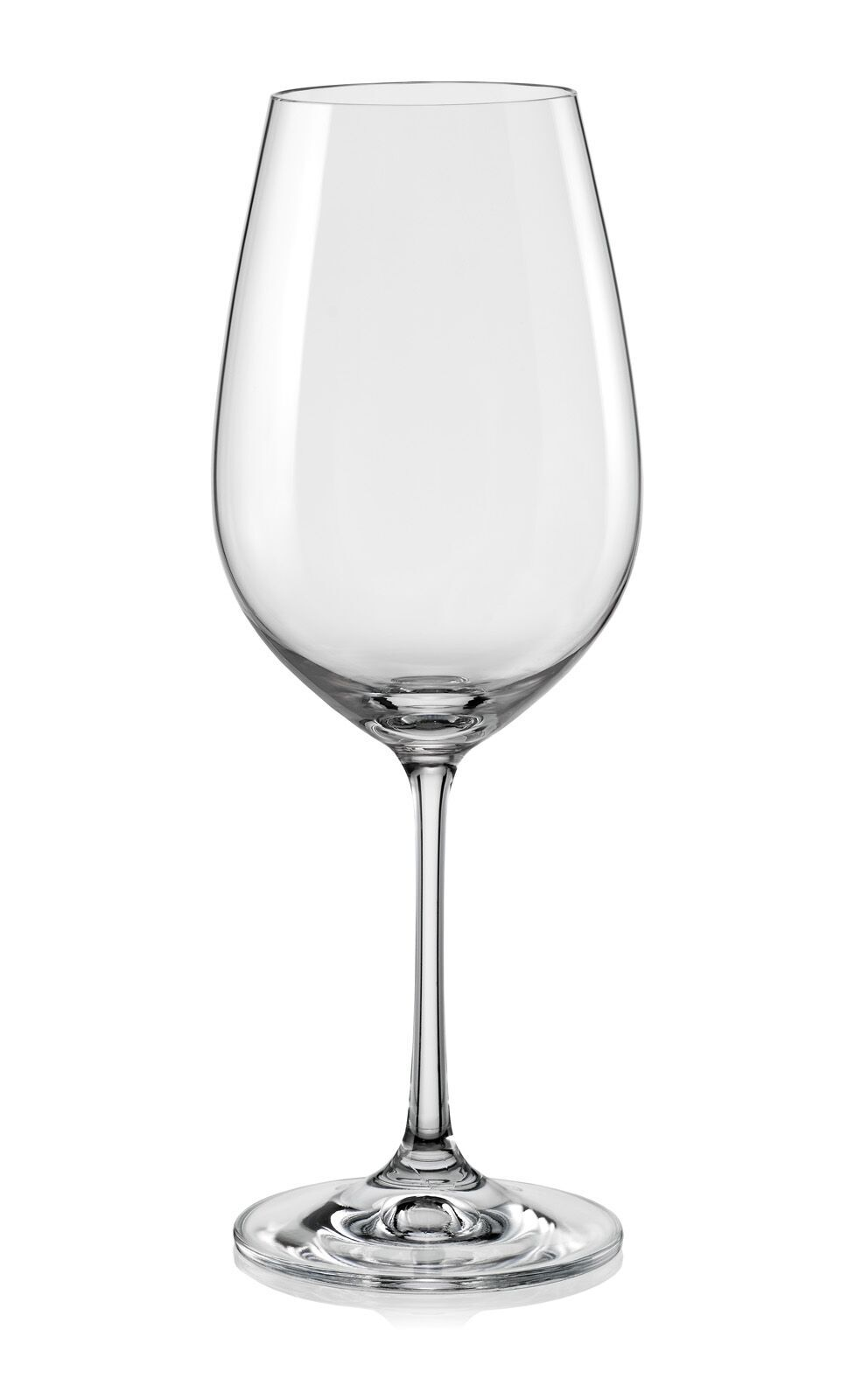 Bohemia Crystal Viola wine Glass 450ml set of 6 pcs Bar Glassware in Transparent Colour by Bohemia