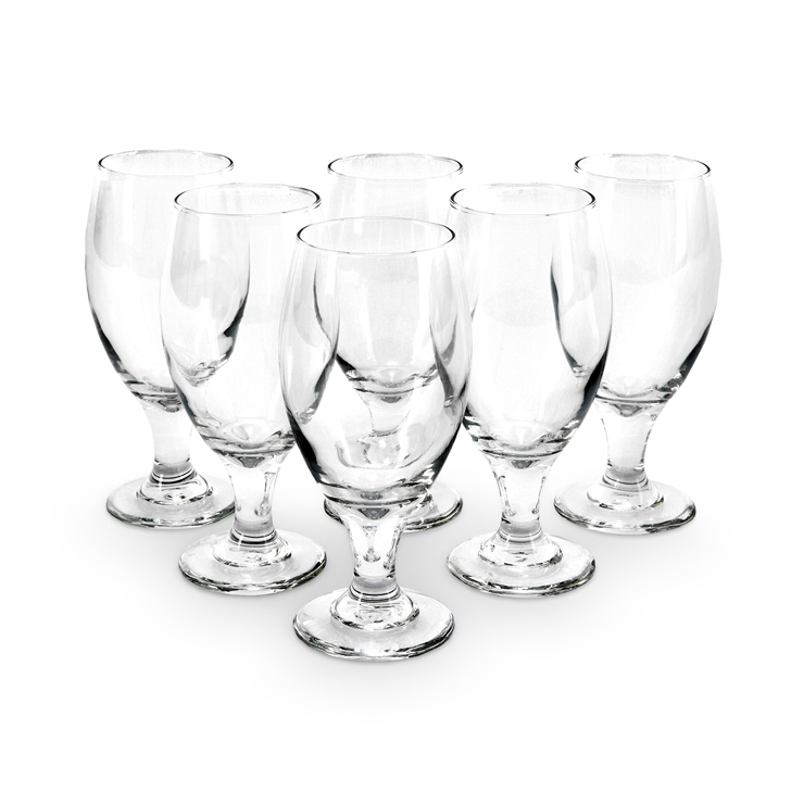 Libbey Belgian Beer Glass 6 Pcs Glass Bar Glassware in Transparent Colour by Libbey