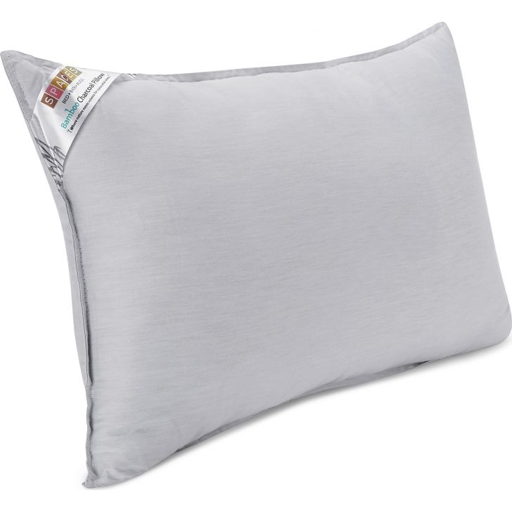 Spaces Bamboo Charcoal White Pillow