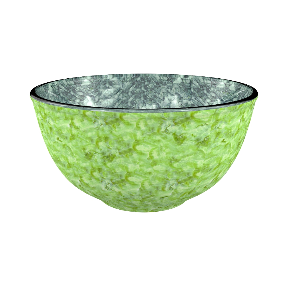 Mixing Bowl 500 Ml Grn Borosilicate Glass Bakeware Sets in Green Colour by Living Essence