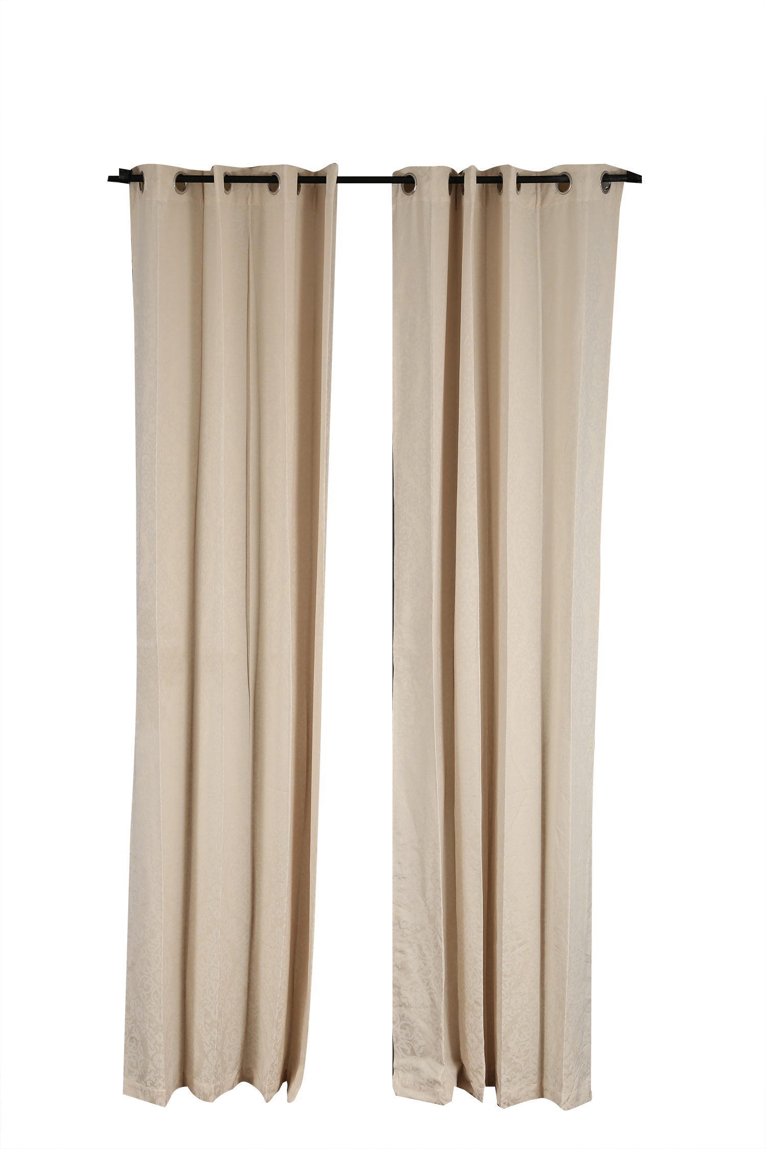Florina Door Curtain Off White Polyester Door Curtains in Off White Colour by Living Essence