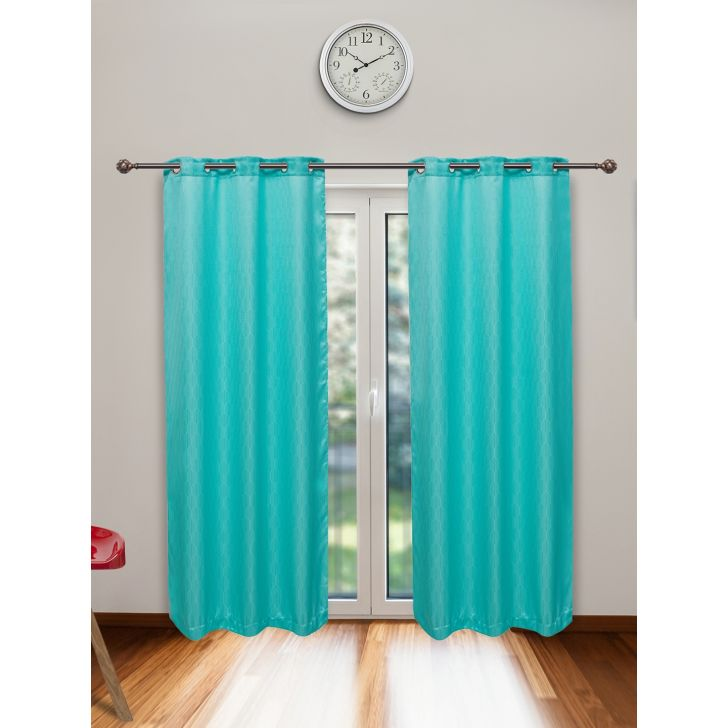 check MRP of turquoise colour curtains Living Essence