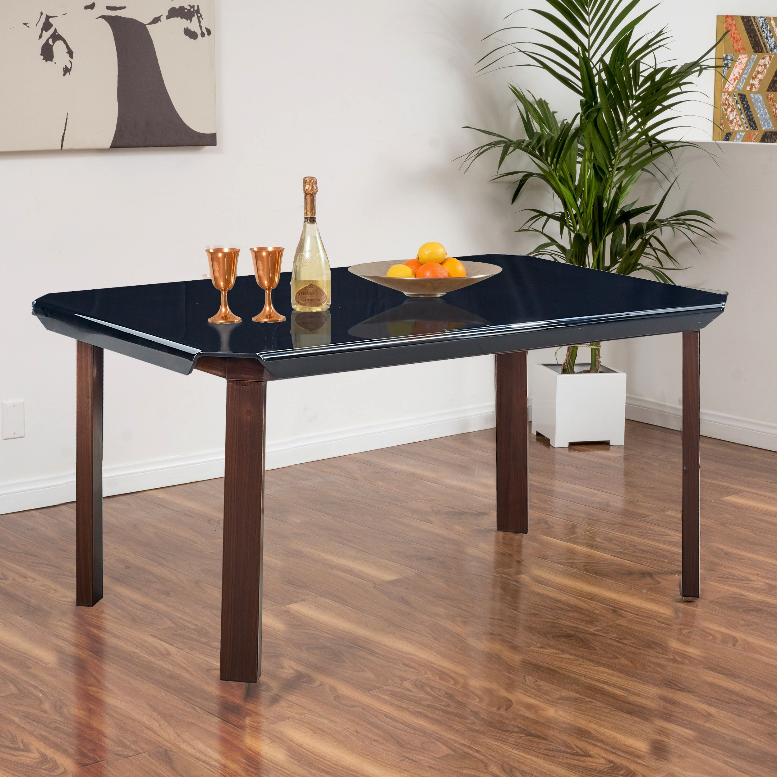 Classic Modular Kitchen Cabinets Rs 18000 Piece: Buy Bentley Mild Steel Six Seater Dining Table In Black