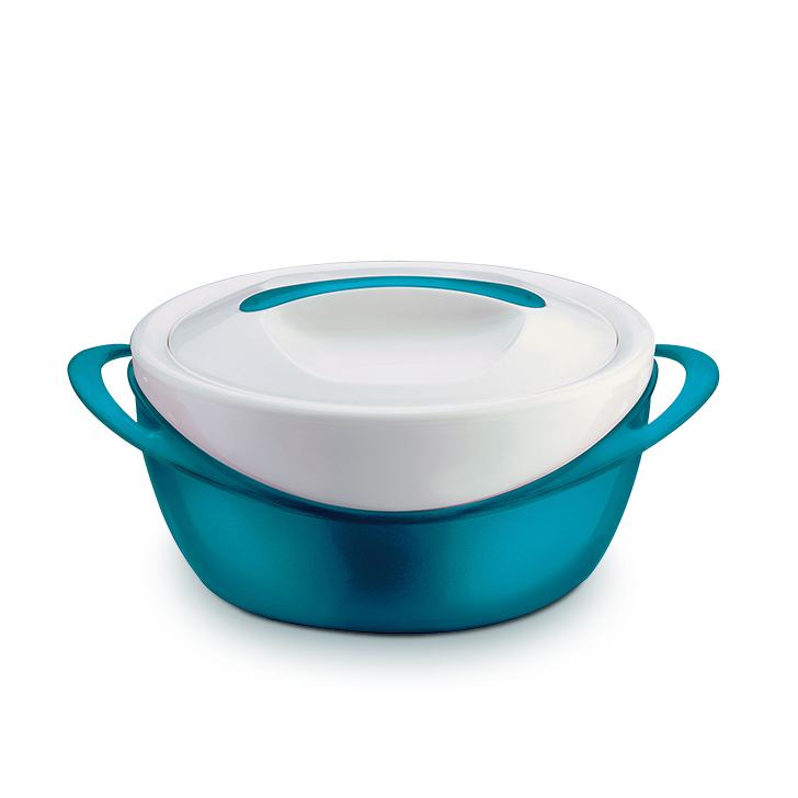 Panache 2.5 ltrs Casserole in Aqua And White Colour by Pinnacle