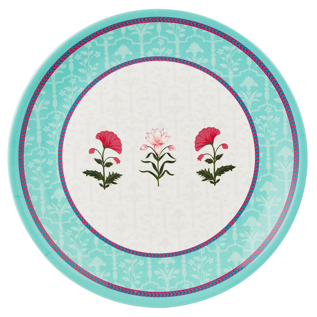 Rambagh Buffet Plate Plates in Multicolour Colour by Living Essence